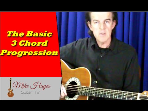 Guitar Chords: Basic 3 Chord progression