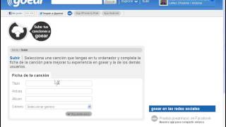 COMO REGISTRARSE Y SUBIR UNA CANCION MP3 A GOEAR.COM