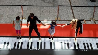 Top 10 Giant Piano Performances Compilation [NEW HD]