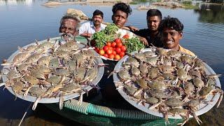 CRAB BIRYANI Prepared by my daddy in River ISLAND / Village food factory