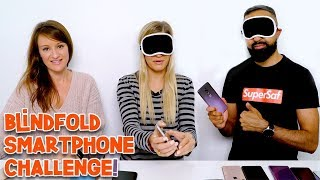 Smartphone Blindfold Challenge!   iJustine vs. SuperSaf