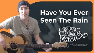 Have You Ever Seen The Rain   Creedence Clearwater Revival (Songs Guitar Lesson BS 902) How To Play