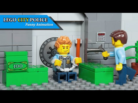Lego Train Money Fail Robbery Heist City Sky Police Robbery Bank