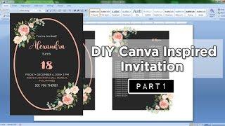 DIY Canva Inspired Invitation Part 1││ MS WORD
