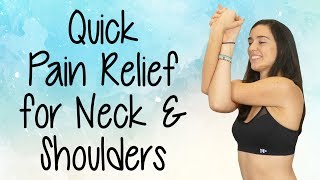 Relief For Tense Neck & Shoulders, Quick Yoga Stretch For Stress & Pain Relief With Julia Marie