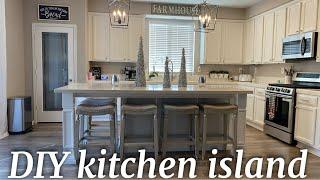 DIY Kitchen Island Build FOR UNDER $1000