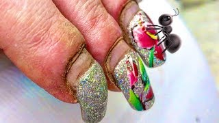 HARDWORKER WOMAN'S #NAILS  #TRANSFORMATION   SHE IS NOT ANT SHE IS BEAUTIFUL NO MATTER WHAT THEY SAY
