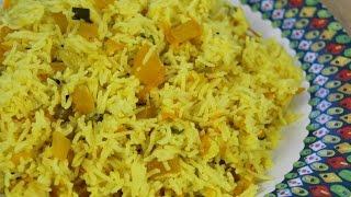 Carrot Pumpkin Rice (Vegan + Vegetarian) | CaribbeanPot.com