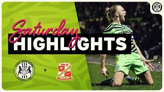 HIGHLIGHTS   Forest Green Rovers 2 Swindon Town 2