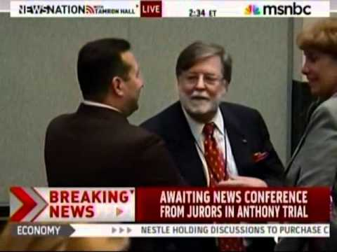 Meg Strickler on MSNBC on July 5, 2011, discussing Casey Anthony verdict right after it was read