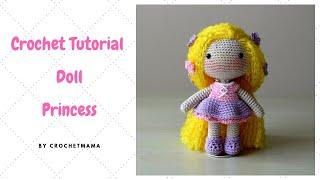 Crochet Amigurumi Doll Princess Tutorial And Pattern