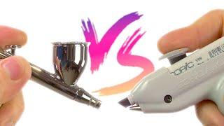 Copic Airbrush Vs. Airbrush - which wins??