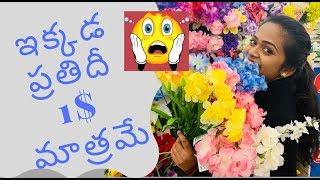 ఇక్కడ ప్రతిదీ కేవలం 1$ మాత్రమే    Dollar Tree    Kalyani Boppa    USA    Americalo Ammakutti