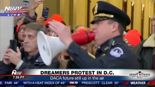 WATCH: DACA Protesters Arrested At Capitol Hill (FNN)