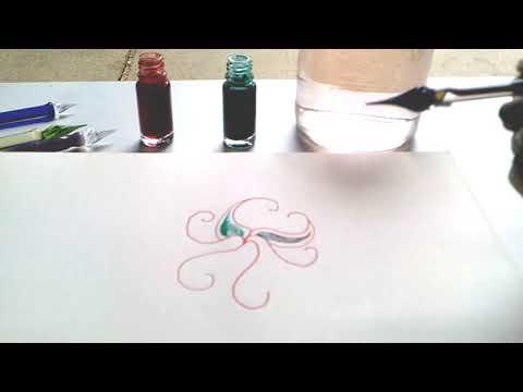 mit Glasfedern schreiben und zeichnen Part 1