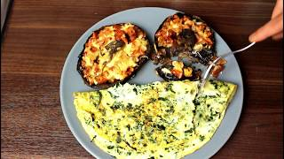 How To Make A Delicious Low Calorie Breakfast Of Eggs, Mushrooms And Cheese