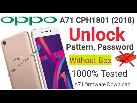 Oppo A71 New Edition Cph1801 Oppo A71 2018 Flash File A71 2018 Frp