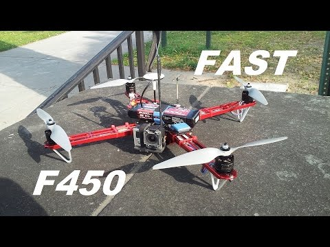 DJI F450 Flame Wheel Lighting 100kph 62mph flight with 3s lipo part #14