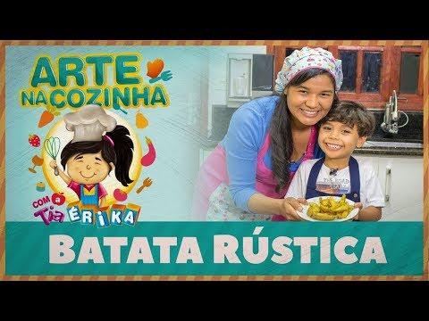 BATATA RÚSTICA | Especial de férias - Arte na Cozinha com a Tia Érika