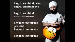 Rabbi shergill - Pagri sambhal jatta - english translation