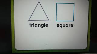 Shapes - (2 dimen) compare triangle & square, rectangle & trapezoid
