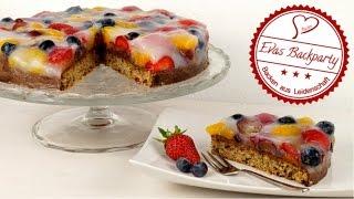 Den besten Obstboden backen / mit Schokolade und Zwieback / Obstkuchen