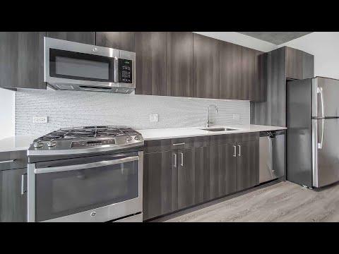 An -09 studio at River West's transit-friendly Spoke apartments