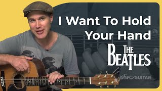 How to play I Want To Hold Your Hand by The Beatles (Beginner Song Guitar Lesson BS-410)