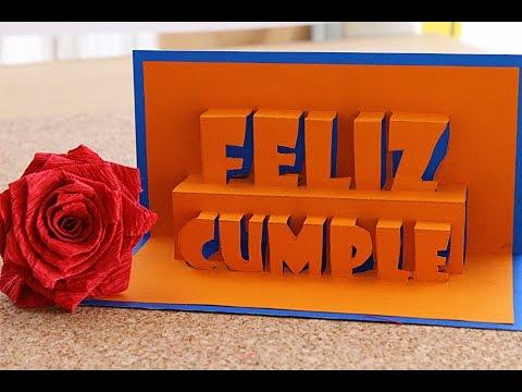 Feliz Cumpleaños Tarjeta Pop-Up 3D // happy Birthday - Remake