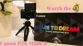 Unboxing the Canon G7X Mark ii | New Camera ALERT Video Creator Kit