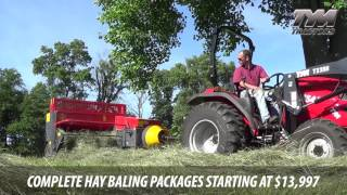 T53 Compact Square Baler by Abbriata on TYM T354 Compact Tractor