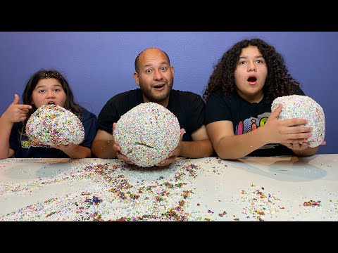 Who can make the best Crunchy Slime Ball Challenge!