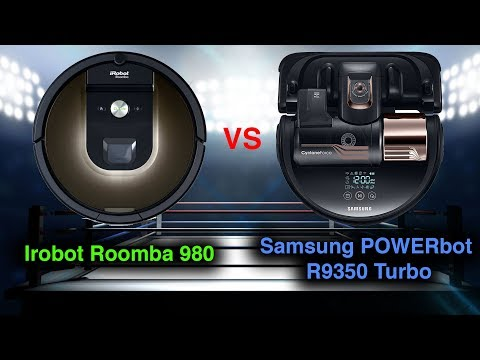 Roomba 980 VS Samsung POWERbot R9350 Turbo DETAILED Robot Vacuum Comparison