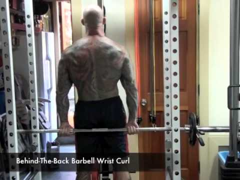 Behind-The-Back Barbell Wrist Curl by Jim Stoppani