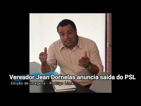 O vereador Jean Dornelas durante vídeo que gravou nesta segunda, 20, para anunciar desfiliação: partido não se alinha mais ao presidente