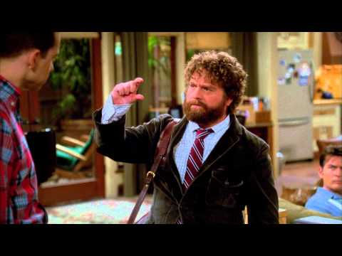 Two and a Half Men Scene   Due Date Zach Galifianakis