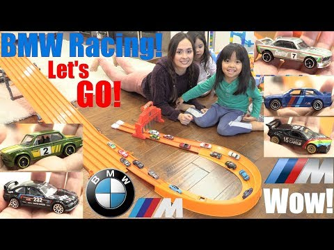 Children's TOY CAR RACING! BMW Diecast Car Racing! Hot Wheels Racing BMW Edition. Toy Channel