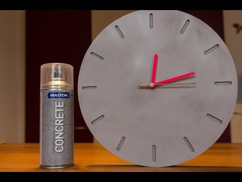 DIY Concrete Effect Clock -  Wanduhr in Betonoptik