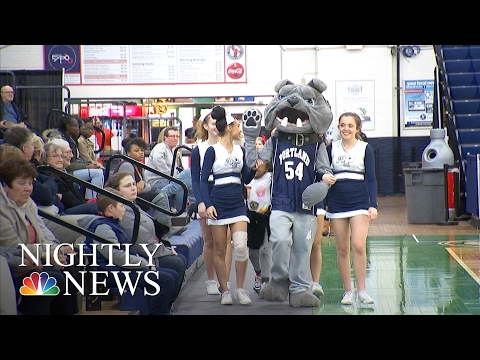 Inspiring America: How A Deaf High School Mascot Moves The Crowd To His Beat | NBC Nightly News