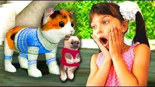СИМУЛЯТОР маленького котенка ОНЛАЙН как симулятор дикой кошки КОТЕНОК мульт игра видео для детей