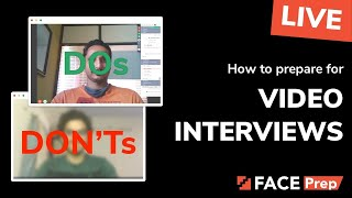 How to prepare for video interviews | Tips & Training | FACE Prep