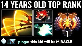 NEW WORLD RECORD 14 Years Old Genius KID on TOP 1 MMR Leader Board 23 Savage NEXT Miracle Of Dota 2