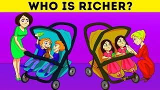 🔊LUXURY LIFE PROBLEMS! 8 TRICKY RIDDLES WITH VOICE