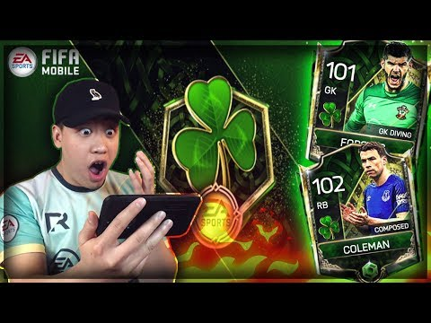 LUCKIEST ST PATRICK DAY PACK OPENING!! FIFA MOBILE 18 PULLING PURPLE PAINT X3!!