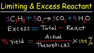 Limiting And Excess Reactant Stoichiometry Chemistry Practice Problems Tutorial