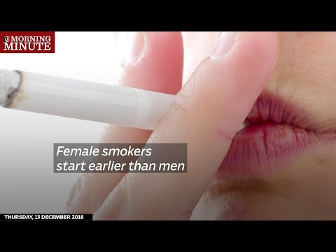 Female smokers start earlier than men