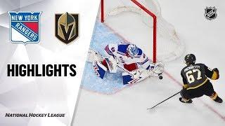 NHL Highlights | Rangers @ Golden Knights 12/08/19