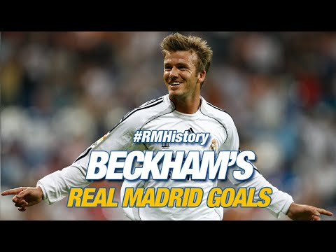 David Beckham all Real Madrid goals!