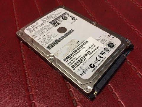 Восстановление жесткого диска HDD laptop Fujitsu к практически заводскому состоянию. Улучшение SMART