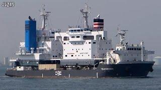 TSUKIBOSHI Heavy Load Carrier 重量物運搬船 月星海運 関門海峡1 2015-MAR